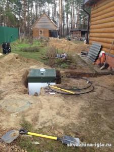 Установка системы канализации Топас-5. Орехово-зуевский район, Московская область