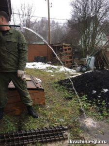 Ремонт и замена абиссинской скважины в деревне Стулово Ногинского района