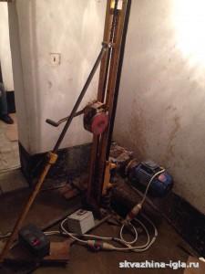 Бурение абиссинской скважины в подвале жилого дома в Раменском районе (Московская область)