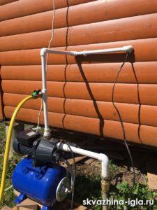 Летняя скважина на даче с вводом воды в дом