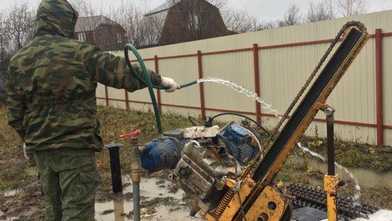 Бурение абиссинской скважины в СНТ «Дубрава» Ногинского района
